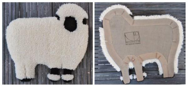 Mouton-recto-verso-tapis-dart-rectangle-dor