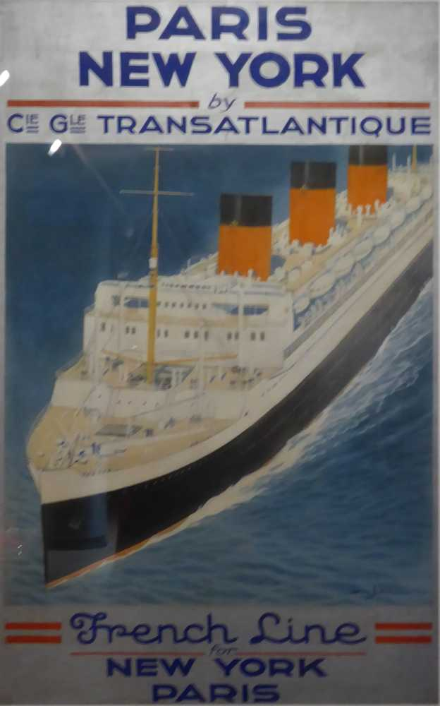 affiche_CGT-French-lines_NY-Paris