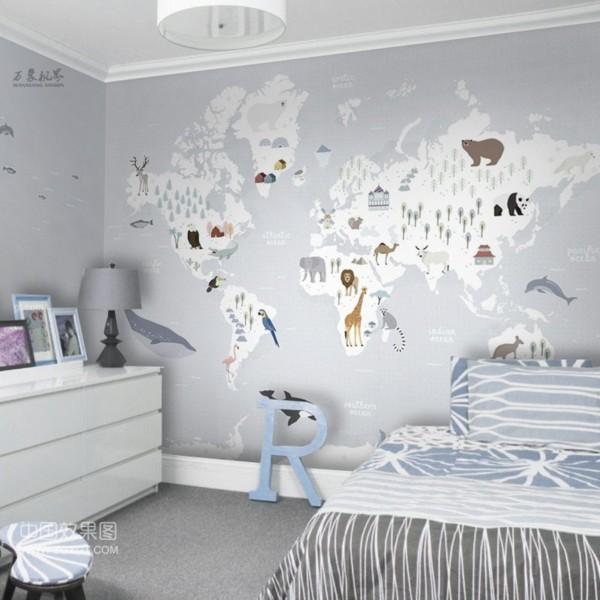 planisphere_panoramique_gris-doux_MakeUpWallDecor