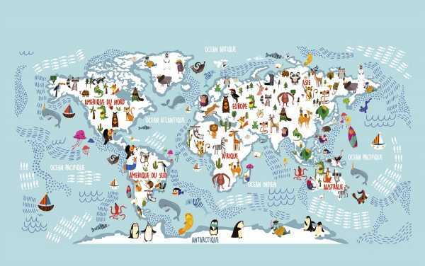 planisphere_papier-peint-panoramique_merveilleuse-planete_wonderful-planet_Le-papiers-de-Ninon