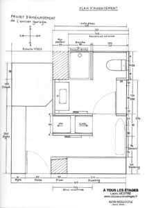 4 Vaucluse plan agencement ancien garage et SDE